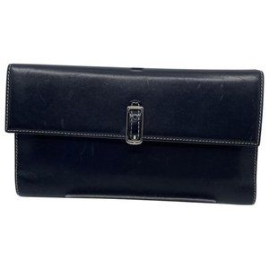 Coach Black Leather Tri Fold Wallet